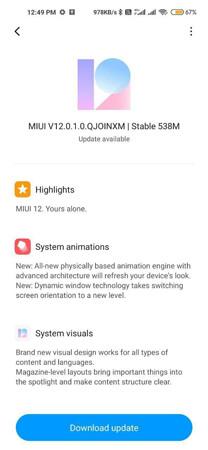 تنزيل تحديث MIUI 12 لهاتف ريدمي نوت 9 : Redmi Note 9 ( شرح مُفصل- رابط التنزيل)