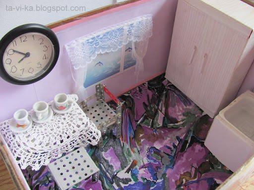 кукольный домик в коробке