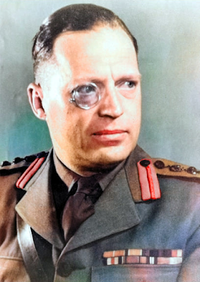Robin W.G. Stephens - first attempt at a colorized image. Collar tabs are red.