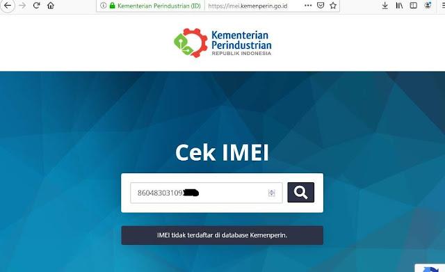 cek IMEI HP Kemenperin 2019
