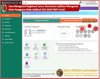 Mengatasi Registrasi Lama Sementara Aplikasi Mengecek Data Pengguna Pada Aplikasi EDS 2020 PMP Covid