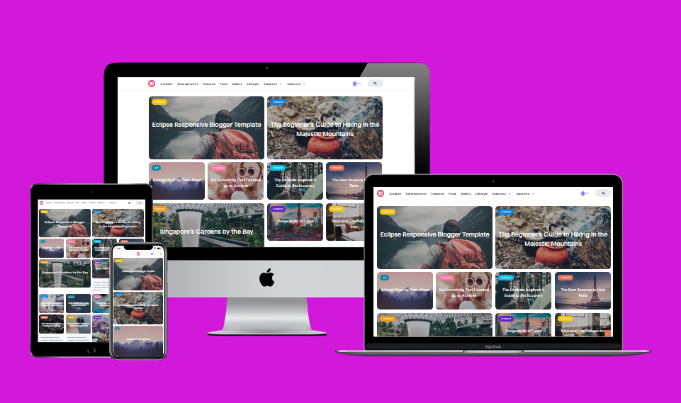 Exopic Pro Responsive Blogger Template