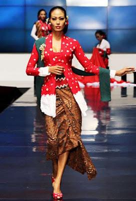 Baju Kebaya Merah Putih Anne Avantie Batik Modern Klasik 17 Agustus Indonesia Merdeka