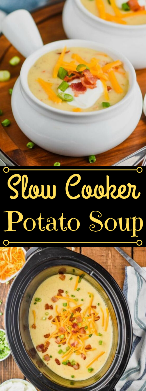 CROCKPOT POTATO SOUP RECIPE #appetizers #snacks #creamcheese #wontons #lunch