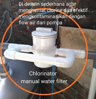 Chlorinator Manual untuk filter air