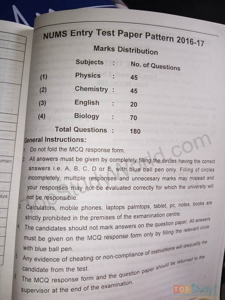 Pdf nts papers test sample