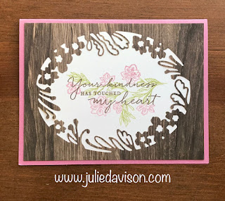 5 Stampin' Up! Path of Petals Cards ~ Petal Label Dies ~ www.juliedavison.com