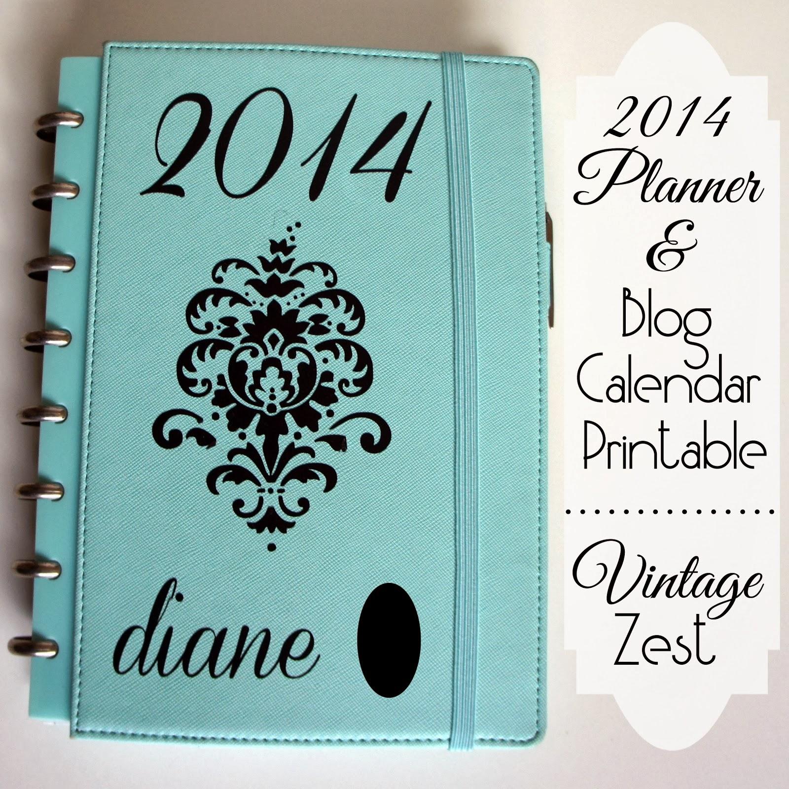 Free Printable Blog Planner Calendar Organizer