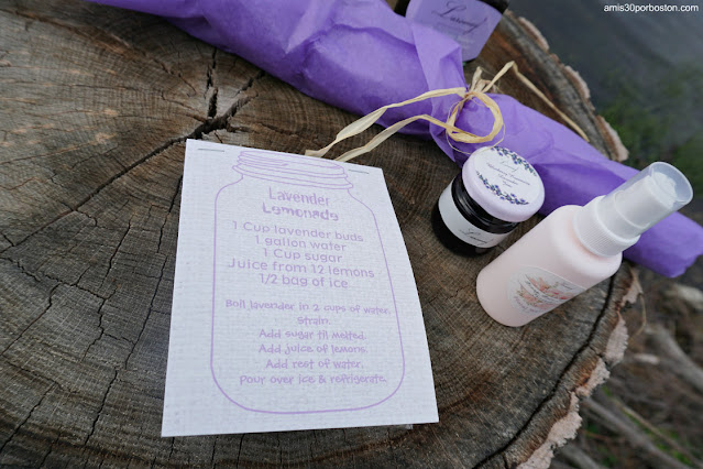 Receta de Limonada de Laromay Lavender Farm en Hollis, New Hampshire