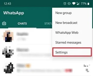 كيفية قراءة الرسائل إعدادات Whatsapp غير مرئية