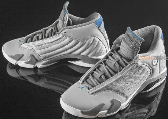 huge selection of 5d92c 9cdad Air Jordan 14 Retro Wolf Grey White-Sport Blue August 2014