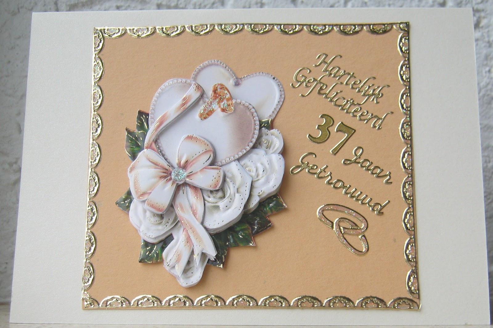 37 jaar getrouwd Hetty's Knutselhokkie!: 37 jaar getrouwd 37 jaar getrouwd