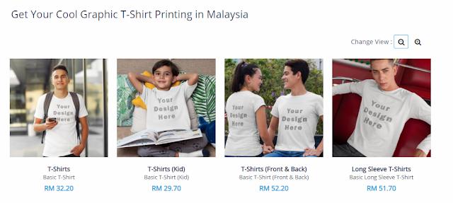 cetakan t-shirt di Princious.com