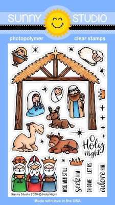 Sunny Studio Stamps Holy Night Nativity Faith Based Christmas Holiday 4x6 Clear Photopolymer Stamp Set
