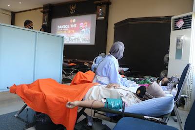 Sambut HUT Ke-76 TNI, Lanud Supadio Gelar Donor Darah