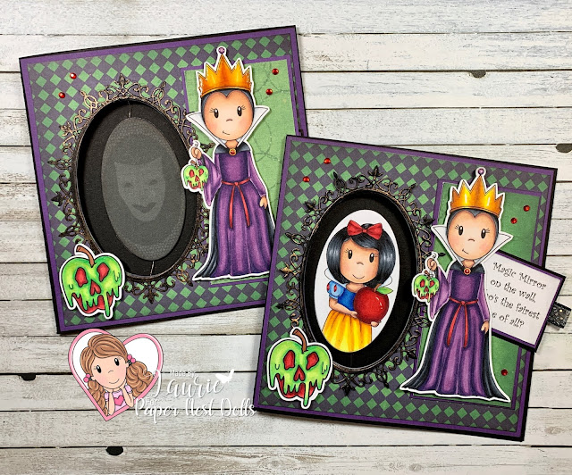 Spinner Card Using Evil Queen and Princess and Apple by Paper Nest Dolls