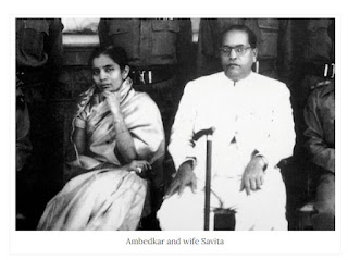 Dr Babasaheb Ambedkar with his wife