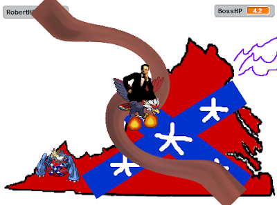 Abraham Lincoln Braviary Capture the Confederate Flag game Heat Wave Virginia