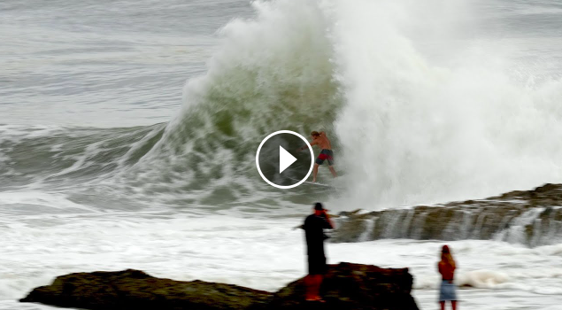 Surfing Gnarly Action Behind The Rock Saturday 20th February 2021
