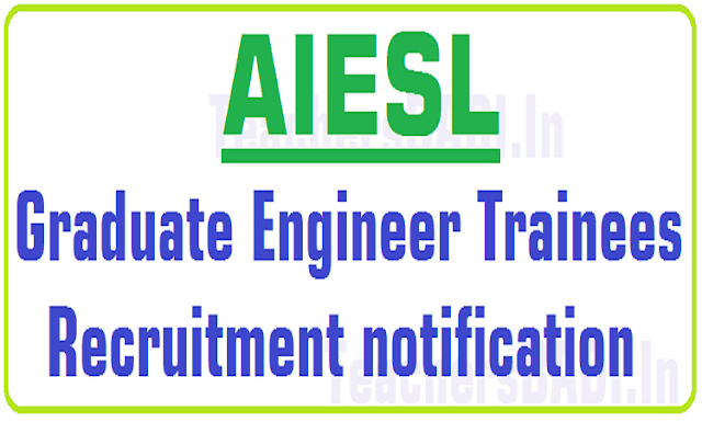 AIESL,Graduate Engineer Trainees,Recruitment 2016 notification