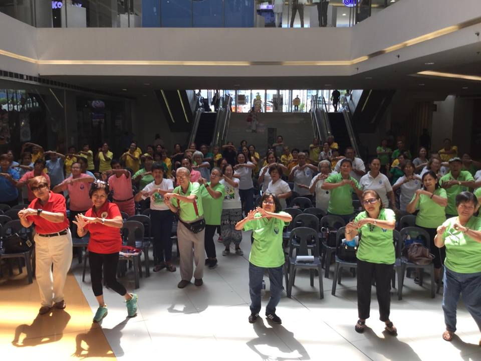 Senior Citizens do some Zumba exercises during the Wellness Day at SM City Iloilo