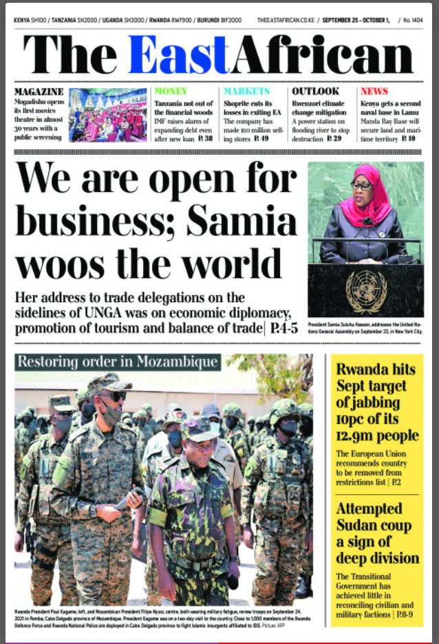 Newspaper front pages for the  25th of September, 2021