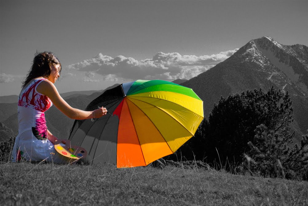 Beautiful black and white photos with color
