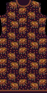 Elephant Print Traditional Women Jacket Design Back - 2751