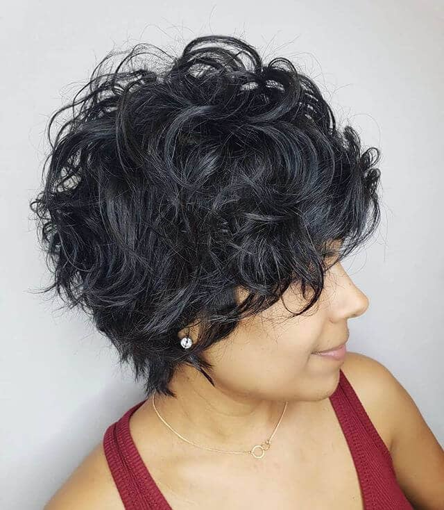 very short curly hair ideas