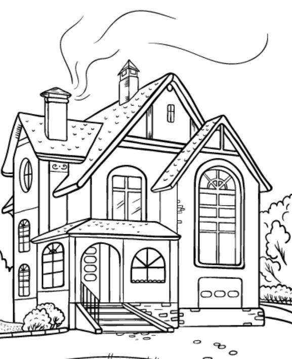 Gambar Untuk Mewarnai Rumah : gambar, untuk, mewarnai, rumah, Gambar, Mewarnai, Rumah, Bertingkat