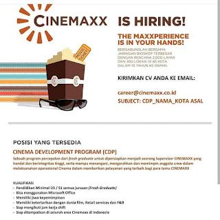 Info Lowongan Kerja Cinema Development Program (CDP) Cinemaxx