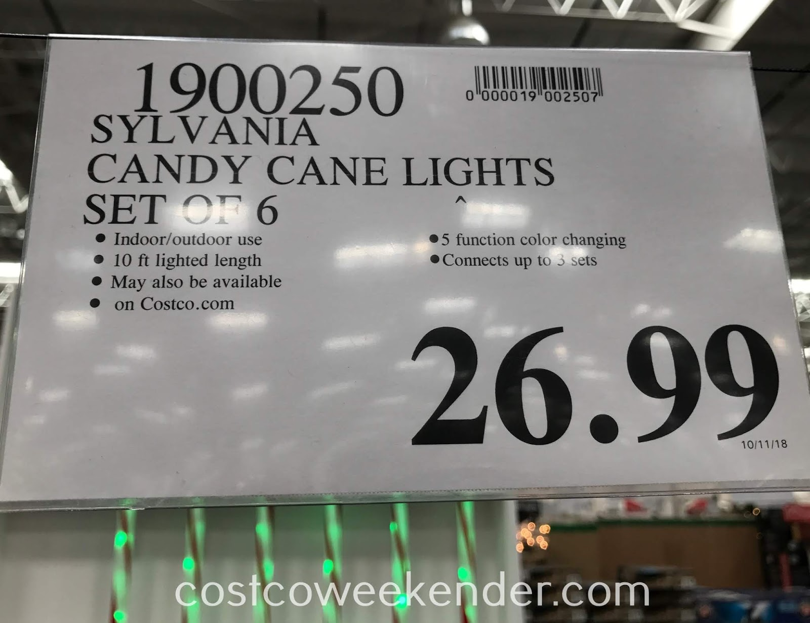Deal for Sylvania Color Changing LED Candy Cane Lights at Costco