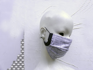 face mask, for men, women fashion, grey face mask,dots, geometric, travel mask, dust mask, Etsy shop, Vesna Kolobaric