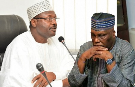 Atiku and INEC Chairman