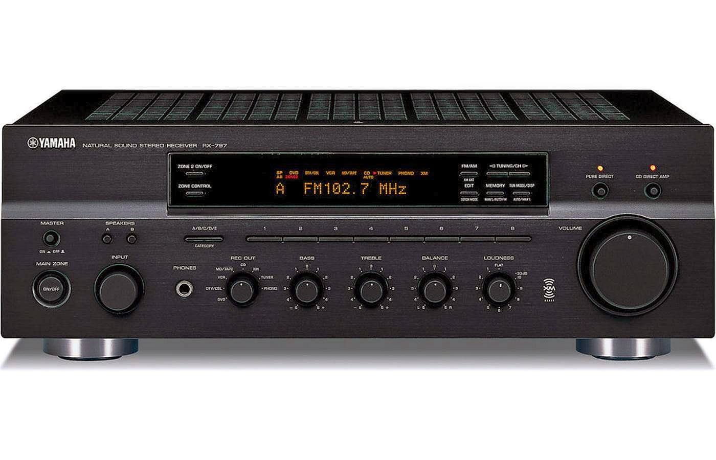 yamaha rx 797 stereo receiver audiobaza. Black Bedroom Furniture Sets. Home Design Ideas