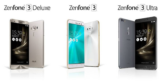 شركة ASUS تعلن عن هواتفها ZenFone 3, ZenFone 3 Deluxe و ZenFone 3 Ultra