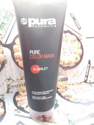 Pura Kosmetica,  Pure Color Mask, maska koloryzująca/ scarlet