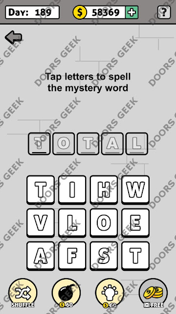 Words Story Day 189 Answer, Cheats, Solution