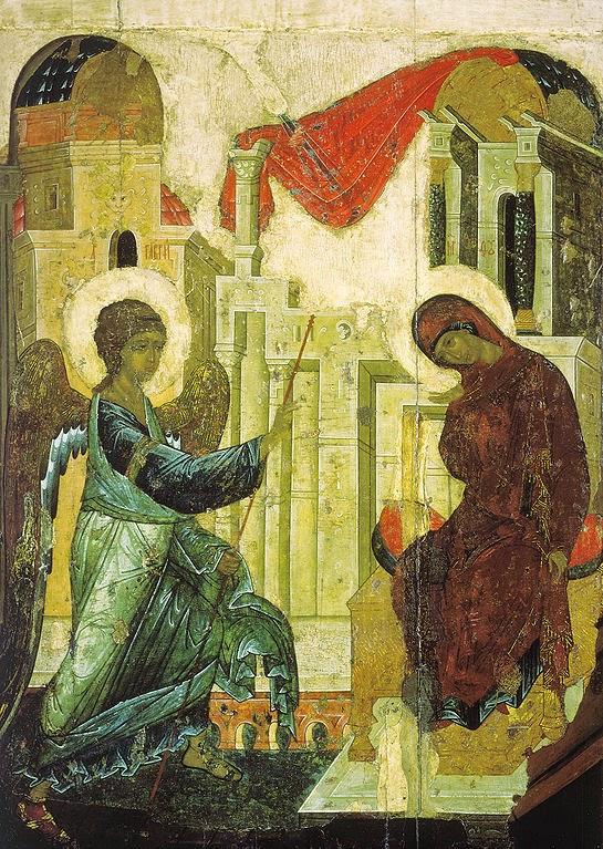 Anunciação - Andrei Rublev e suas pinturas ~ Bizantino