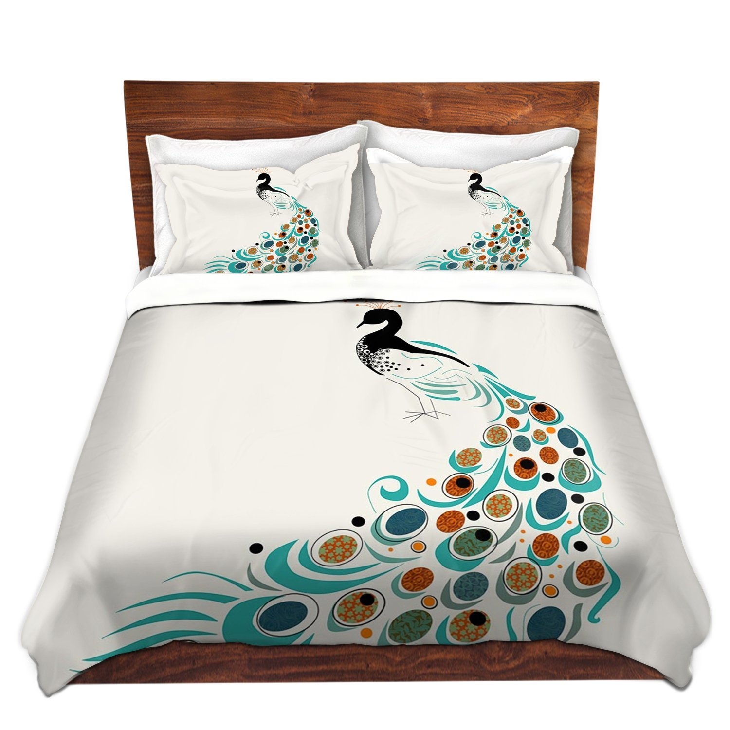 Peacock Themed & Peacock Colored Comforter and Bedding Sets
