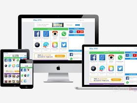 Template Blog Download Blue Apk (Clone Blogger Template) - Responsive Blogger Template