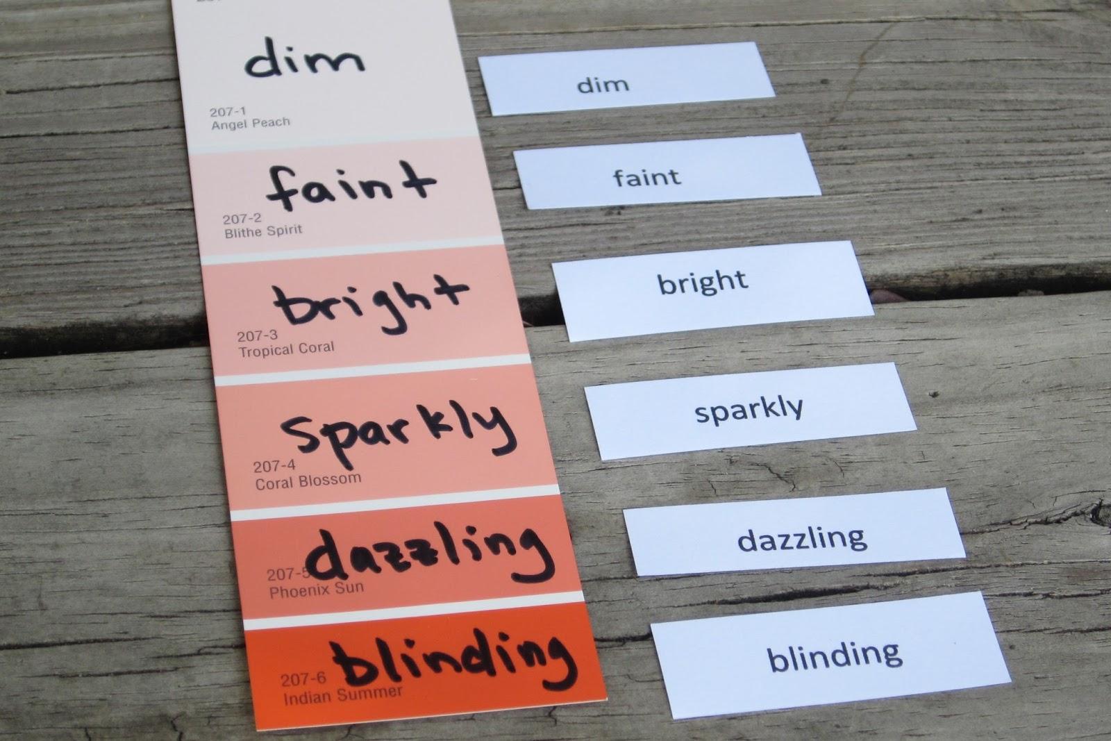 Classroom Freebies Too Ranking Words Vocabulary Activity