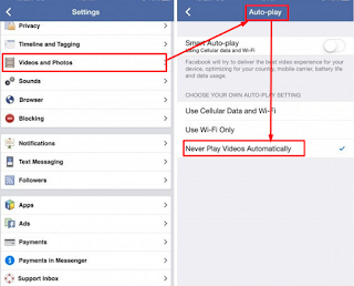 Cara menonaktifkan autoplay video facebook di iOS