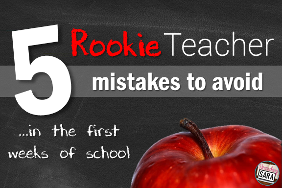 Are you a rookie teacher? No worries - we all have to start somewhere! The start of your first school year as a new teacher can feel really intimidating, so check out these five tips of mistakes you should try to avoid at the beginning of the year. Rookie teacher now? Nah, you're an old pro!