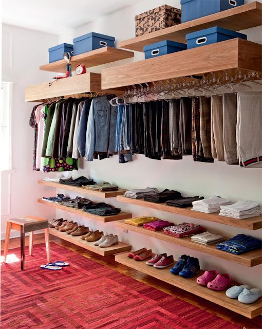 Closet improvisado barato