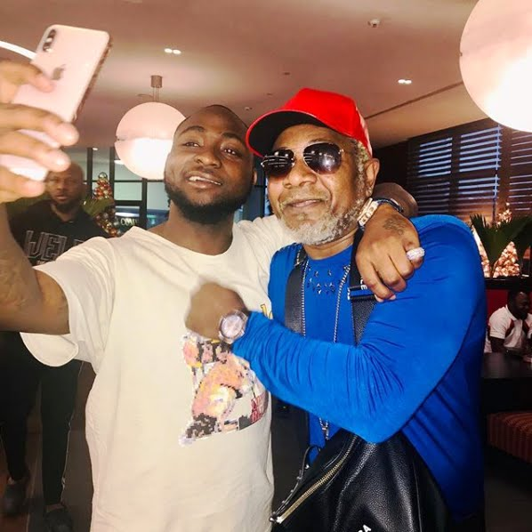 Awilo Longomba with Nigerian Singer Davido