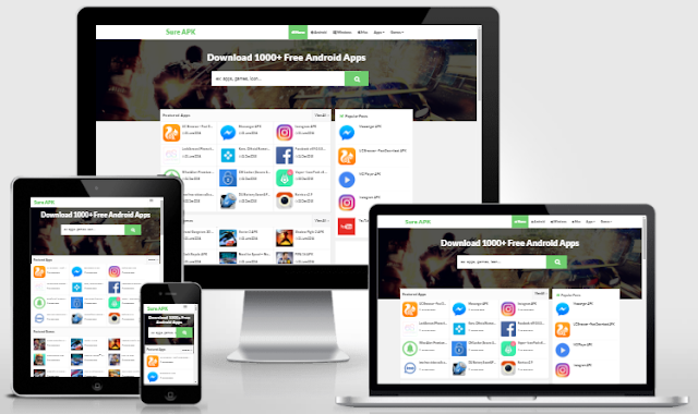 Sure APK - Responsive Blogger Template