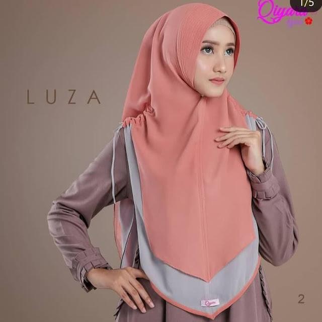 Jilbab Instan Luza Model Terbaru Dua Warna