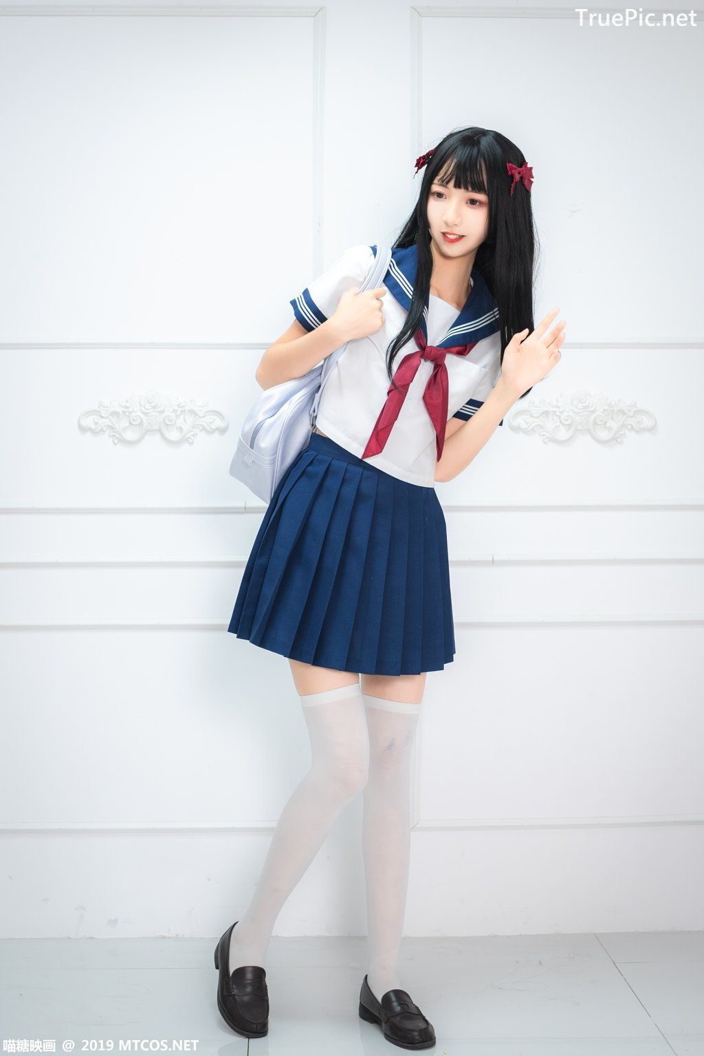 Image-MTCos-喵糖映画-Vol-012–Chinese-Pretty-Model-Cute-School-Girl-With-Sailor-Dress-TruePic.net- Picture-9