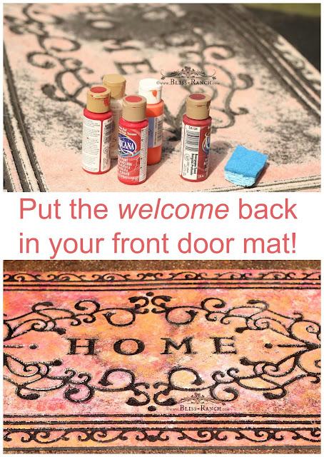 Painted Welcom Mat, Bliss-Ranch.com